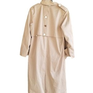 Saxton hall Beige khaki Trench coat Rain